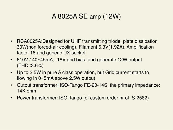 A 8025A SE