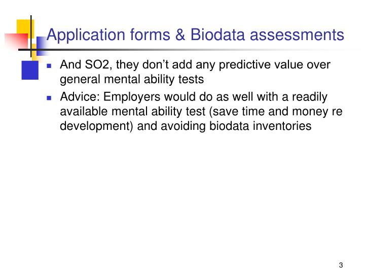 Application forms biodata assessments1