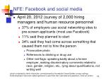 nfe facebook and social media