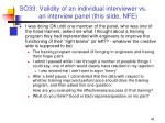 so33 validity of an individual interviewer vs an interview panel this slide nfe1