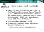 references and contacts
