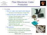 fiber milestones cable production