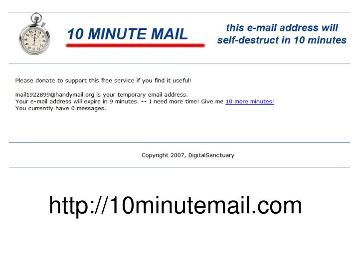 http://10minutemail.com