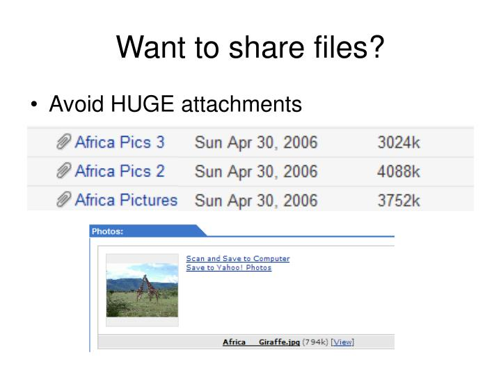 Want to share files?