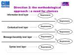 direction 2 the methodological approach a need for choices