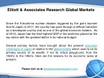 elliott associates research global markets