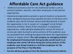 affordable care act guidance1