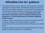 affordable care act guidance2