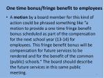 one time bonus fringe benefit to employees6