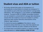 student visas and ada or tuition7