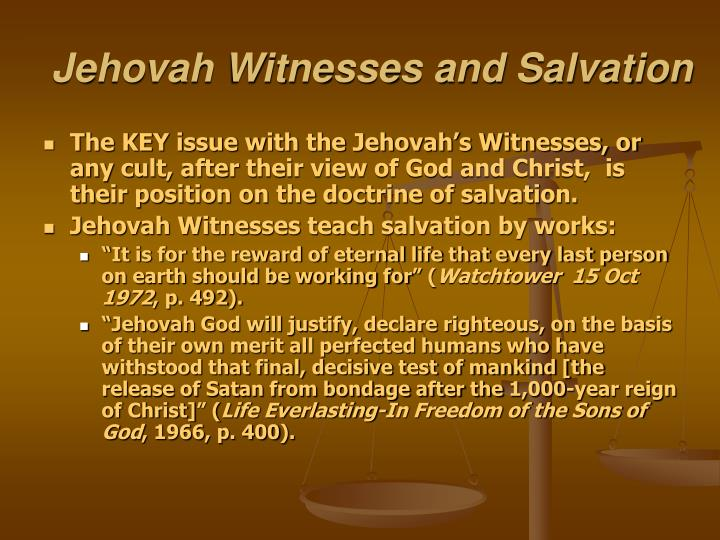 Jehovah Witnesses and Salvation