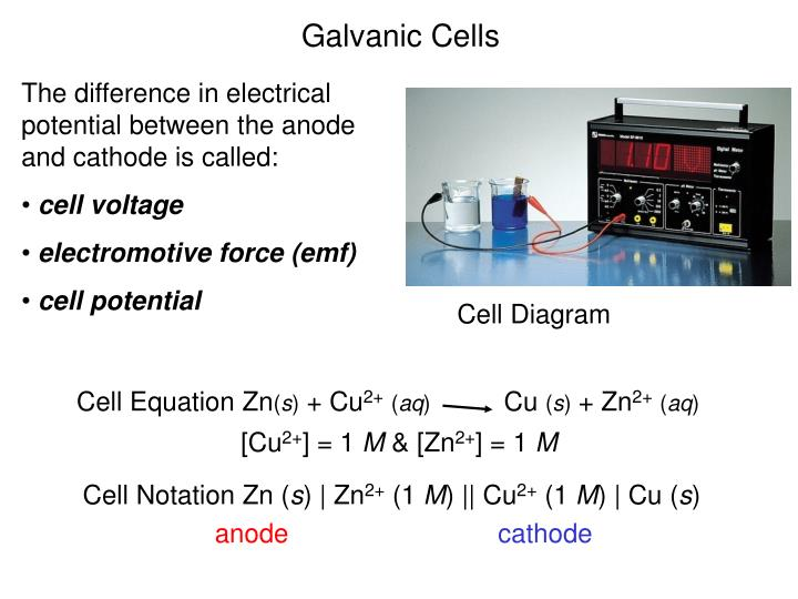 Cell Equation Zn