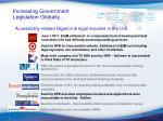 increasing government legislation globally