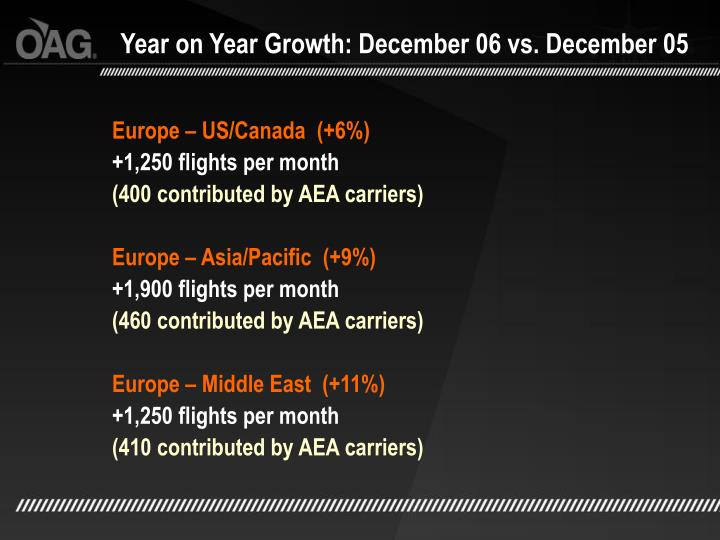 Year on Year Growth: December 06 vs. December 05