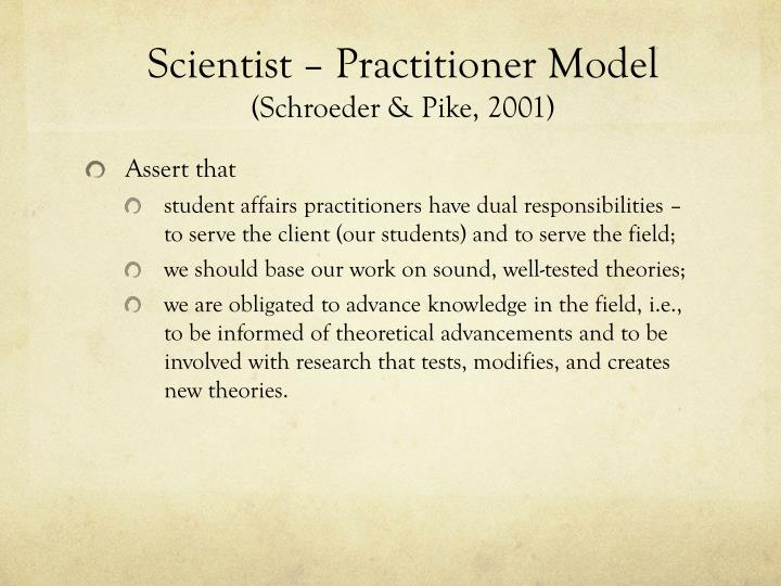 Scientist – Practitioner Model