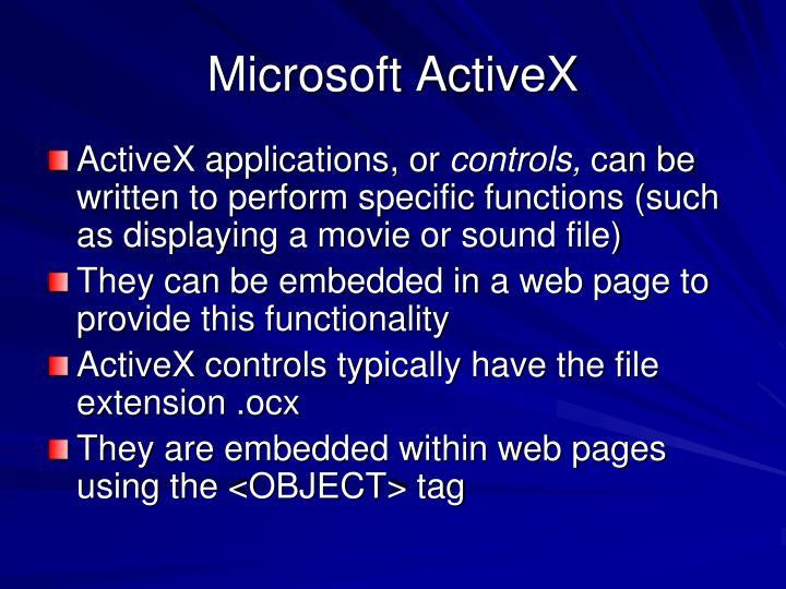 Microsoft ActiveX