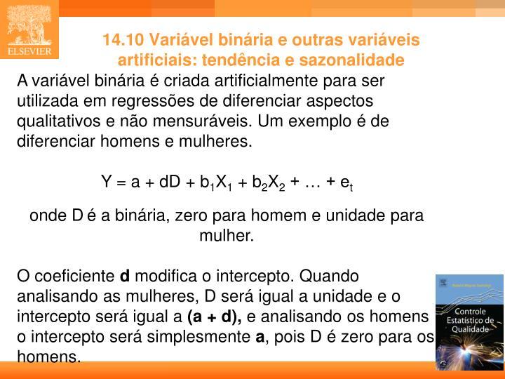 14.10 Variável binária e outras variáveis artificiais: tendência e sazonalidade