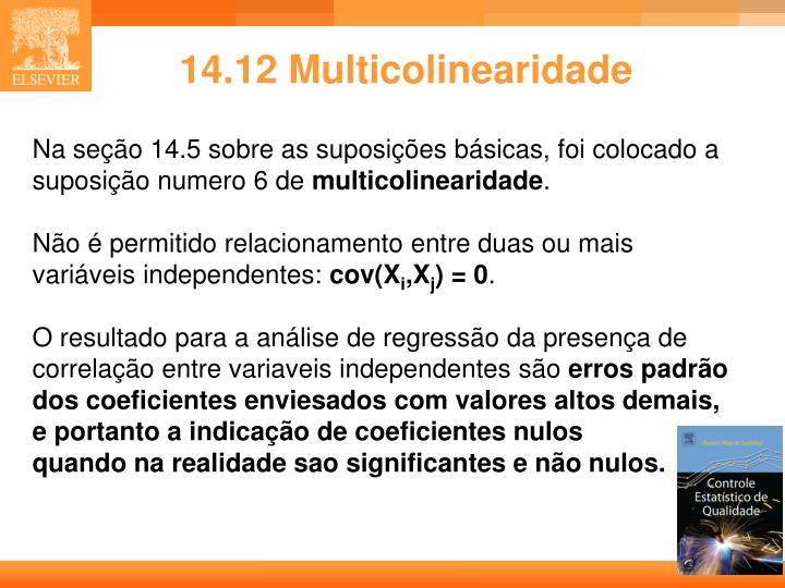 14.12 Multicolinearidade