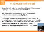 14 12 multicolinearidade