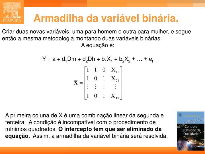 Armadilha da variável binária.