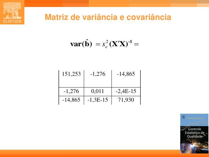 Matriz de variância e covariância