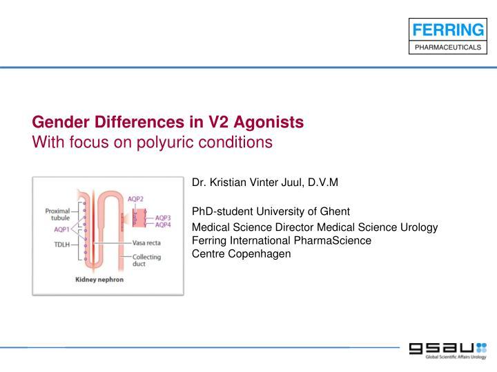 Gender Differences in V2 Agonists
