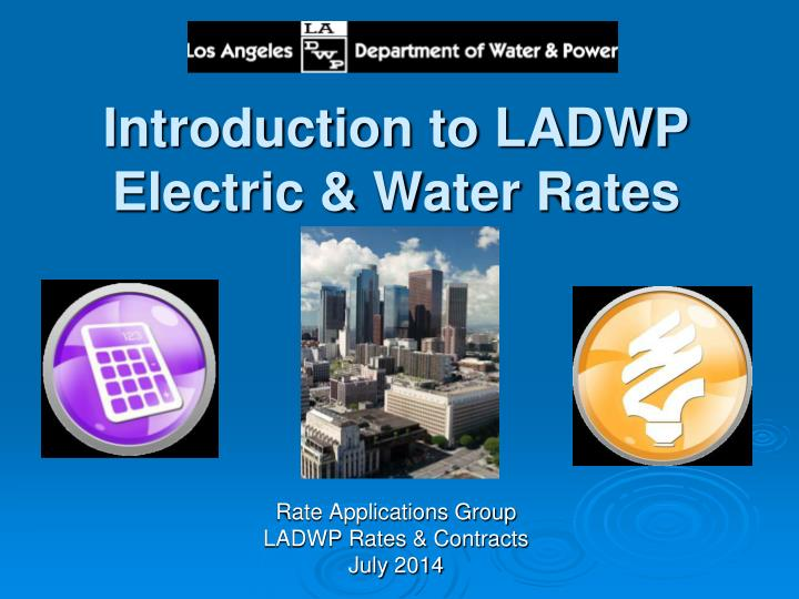 Introduction to ladwp electric water rates