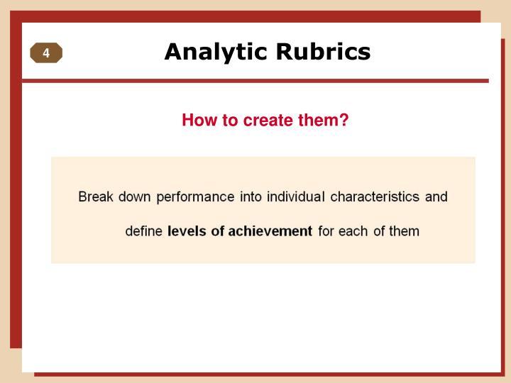 Analytic Rubrics