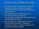 confusing state policies