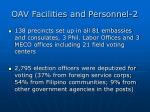 oav facilities and personnel 2