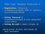 oav law salient features 2