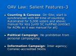 oav law salient features 3