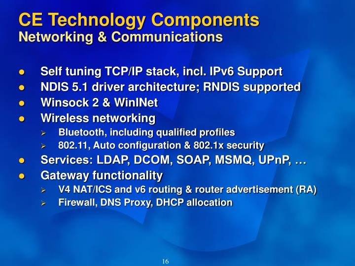 CE Technology Components