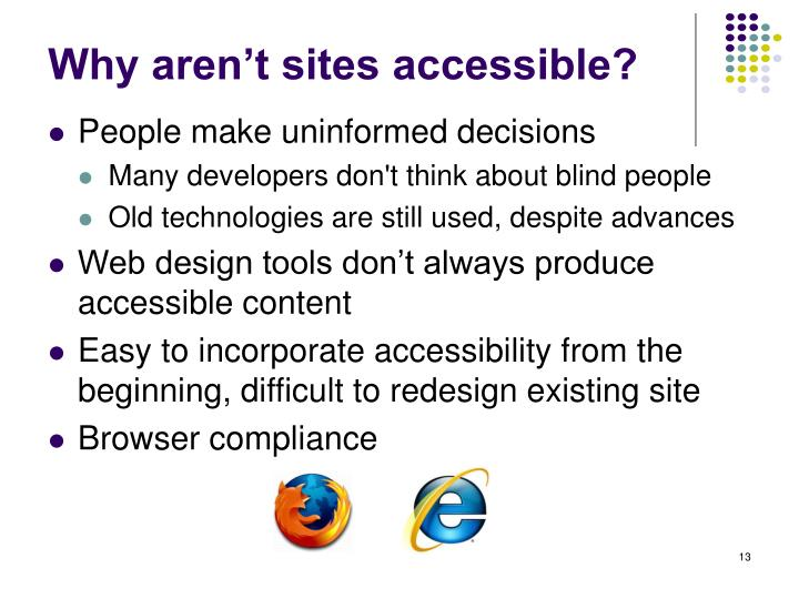 Why aren't sites accessible?