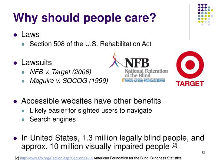 Why should people care?