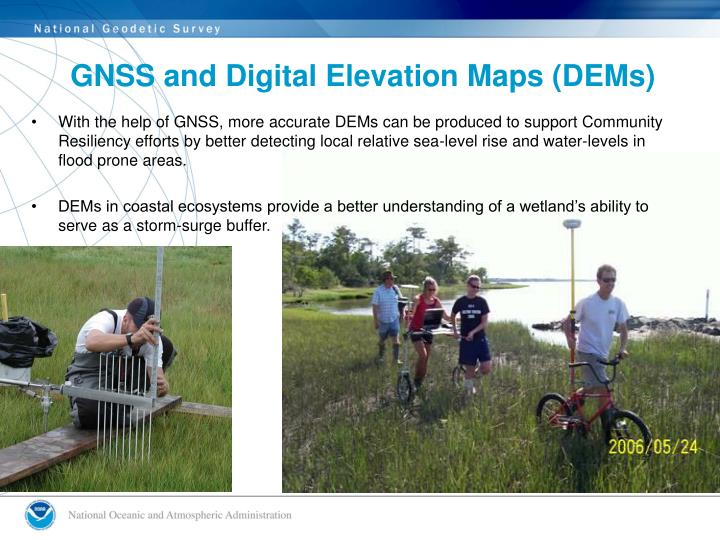 GNSS and Digital Elevation Maps (DEMs)