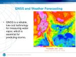 gnss and weather forecasting