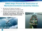 gnss helps prevent the destruction of marine environments caused by industry