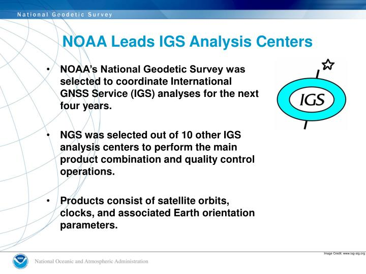 NOAA Leads IGS Analysis Centers