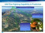 uav fire fighting capability prediction