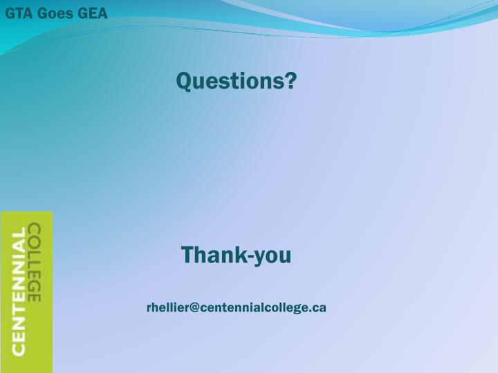 GTA Goes GEA