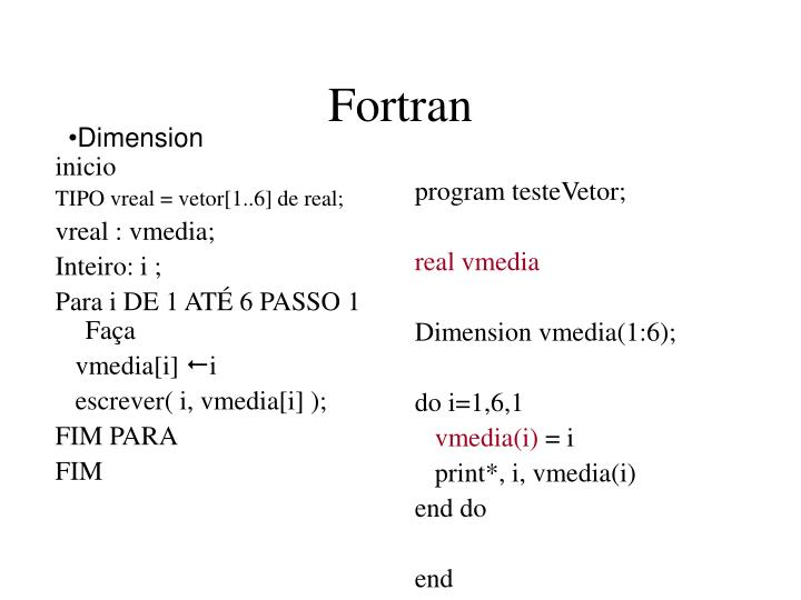 program testeVetor;