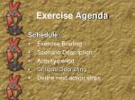 exercise agenda