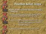 prioritize action steps