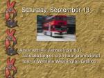 saturday september 13