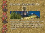 saturday september 133