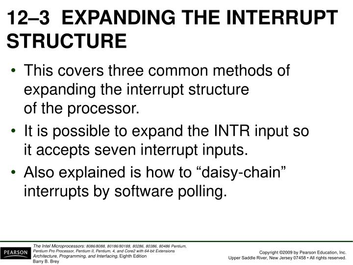 12–3EXPANDING THE INTERRUPT STRUCTURE