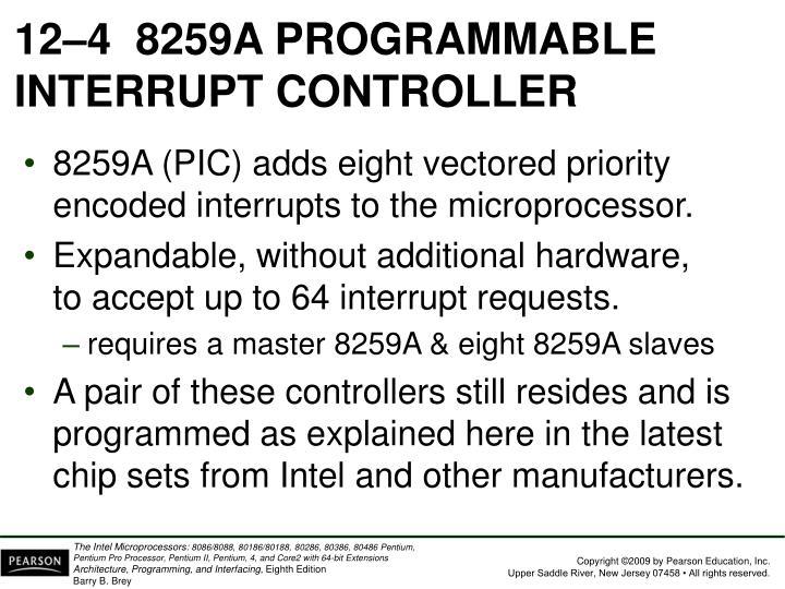 12–48259A PROGRAMMABLE INTERRUPT CONTROLLER