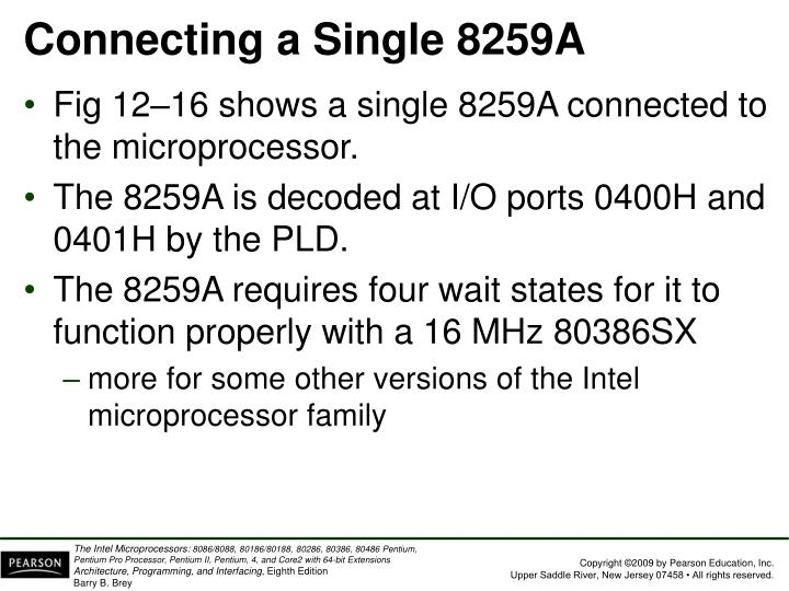 Connecting a Single 8259A