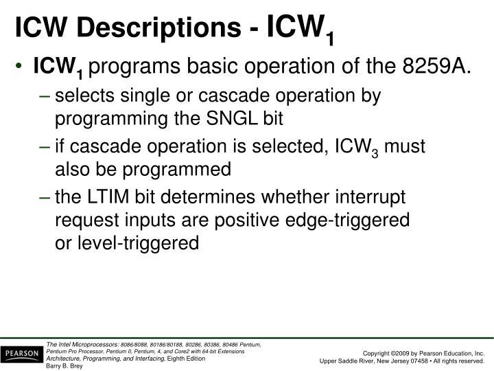 ICW Descriptions -
